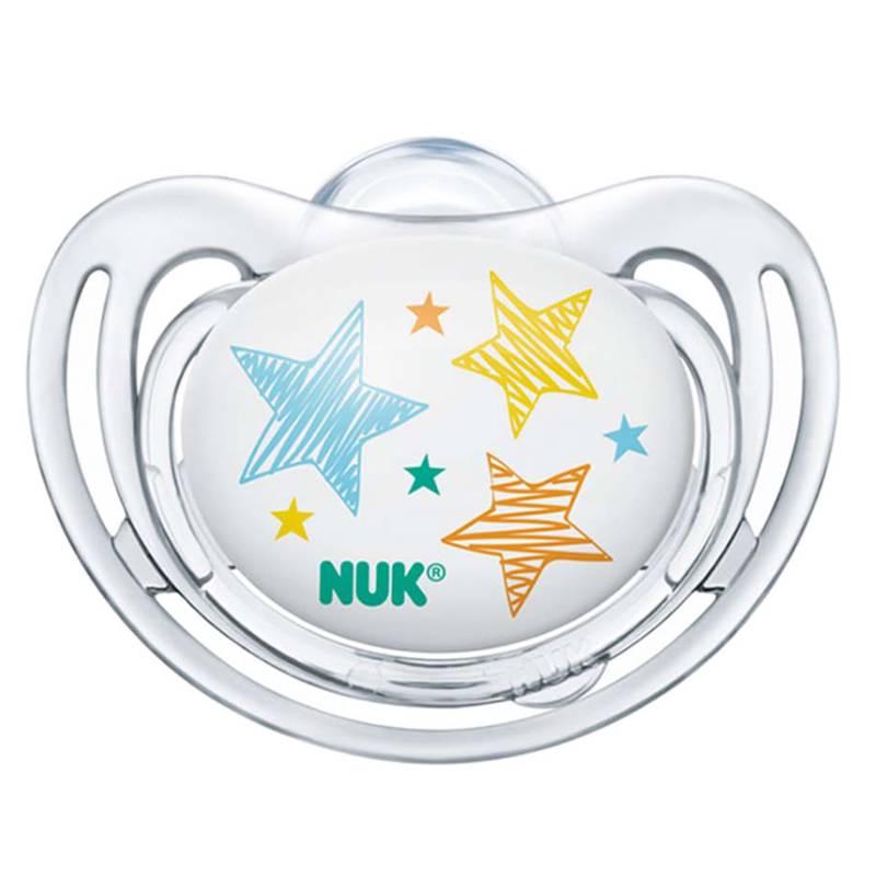 Nuk - Chupete Silicona Free Etapa 1 Estrellas