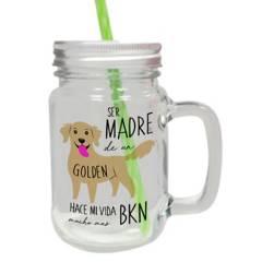PETFY - Jar De Vidrio Golden Retriever Madre