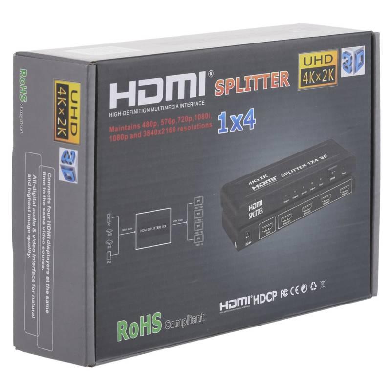 Splitter Hdmi 1 Entrada 4 Salidas