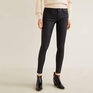 Mango - Jeans skinny push-up Kim encerados