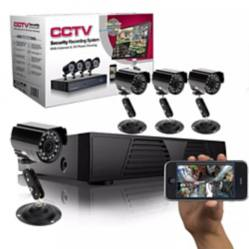 Kit Camaras CCTV Seguridad 4 Canales 01409
