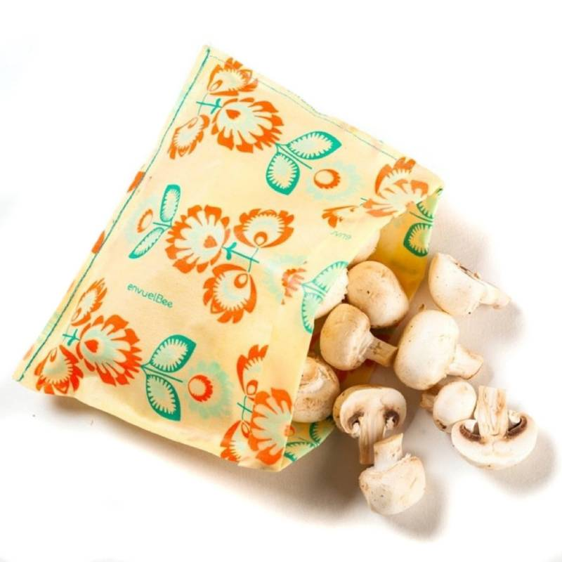 ENVUELBEE - Pack3 Bolsas Reutilizable alimento Beebags Naranja