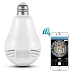 Usa - Ampolleta Cámara Monitoreo Visión 360 Hd Wifi