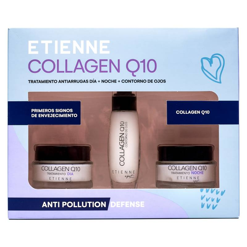 Etienne - Set Collageno Q10 Dia + Noche + Contorno de Ojos