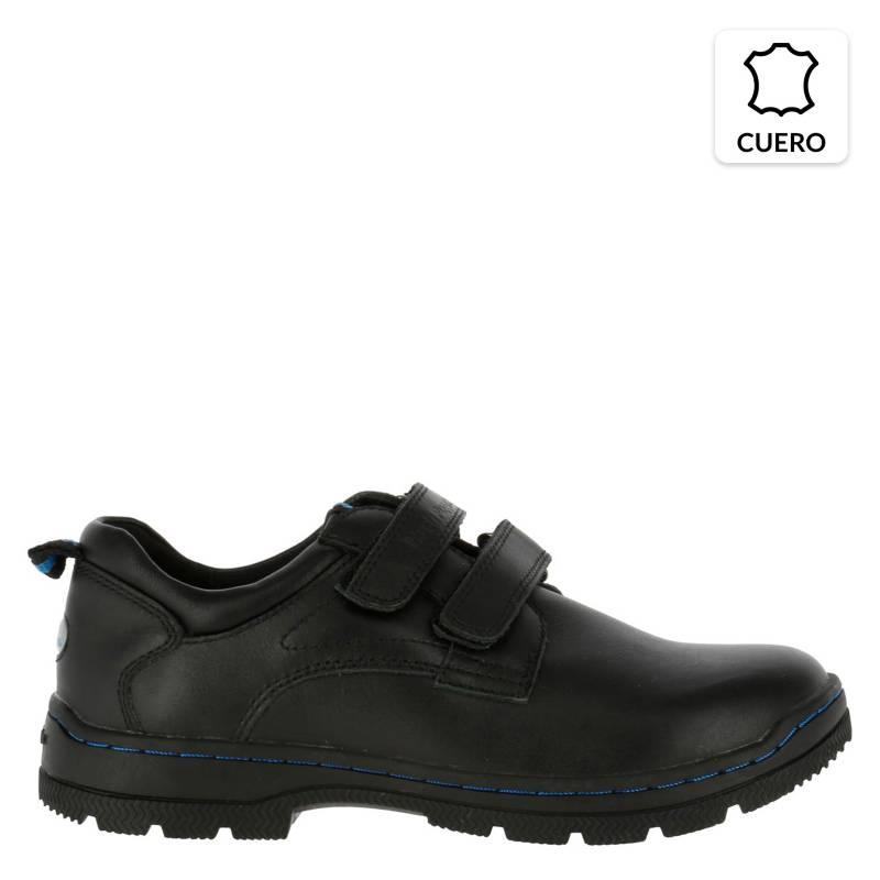 HUSH PUPPIES - Zapato Escolar Niño Cuero Negro
