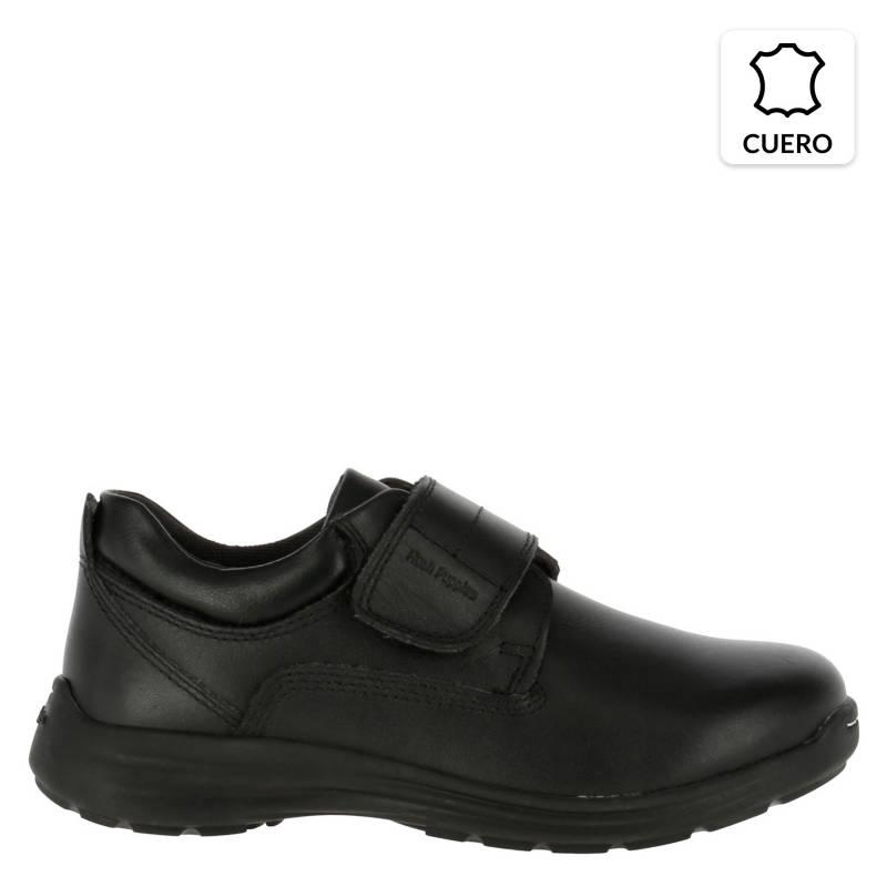 HUSH PUPPIES - Zapato Escolar Niño Cuero Negra
