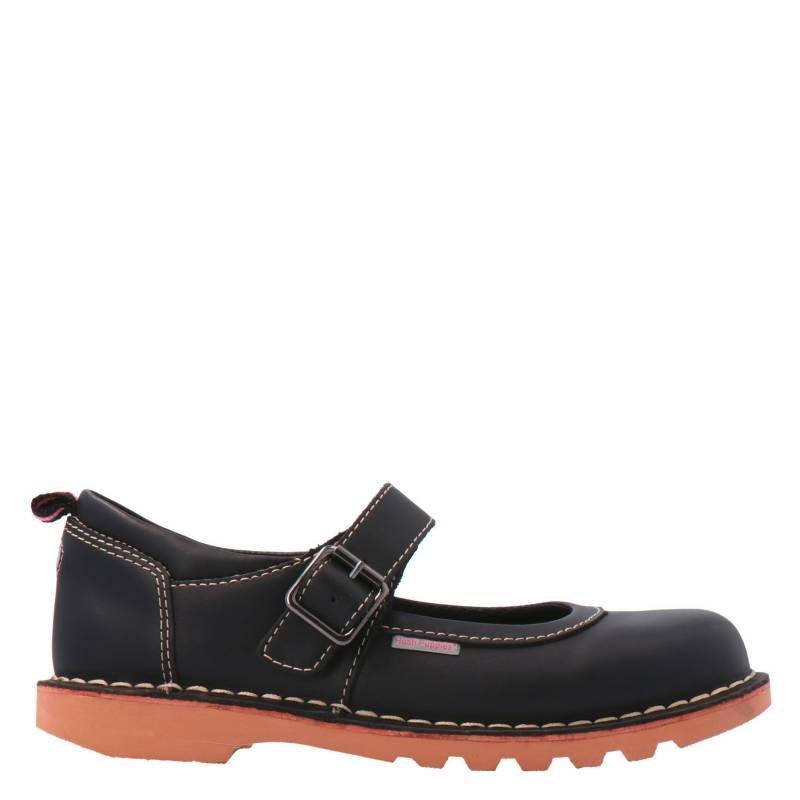 HUSH PUPPIES - Zapato Escolar Niña Cuero Negra