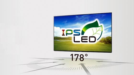 IPS LED gráfica y texto de 178°