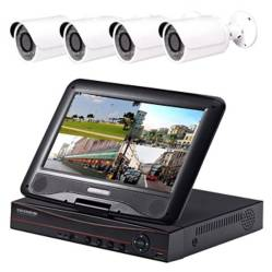 Kit Cctv Con Pantalla 4 Camara Seguridad 01458