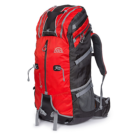 Mochila Outdoor Leonera 50 L Grey / Red