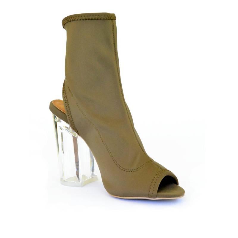 UNIQUE - Sandalia Khaki Sexy Sock