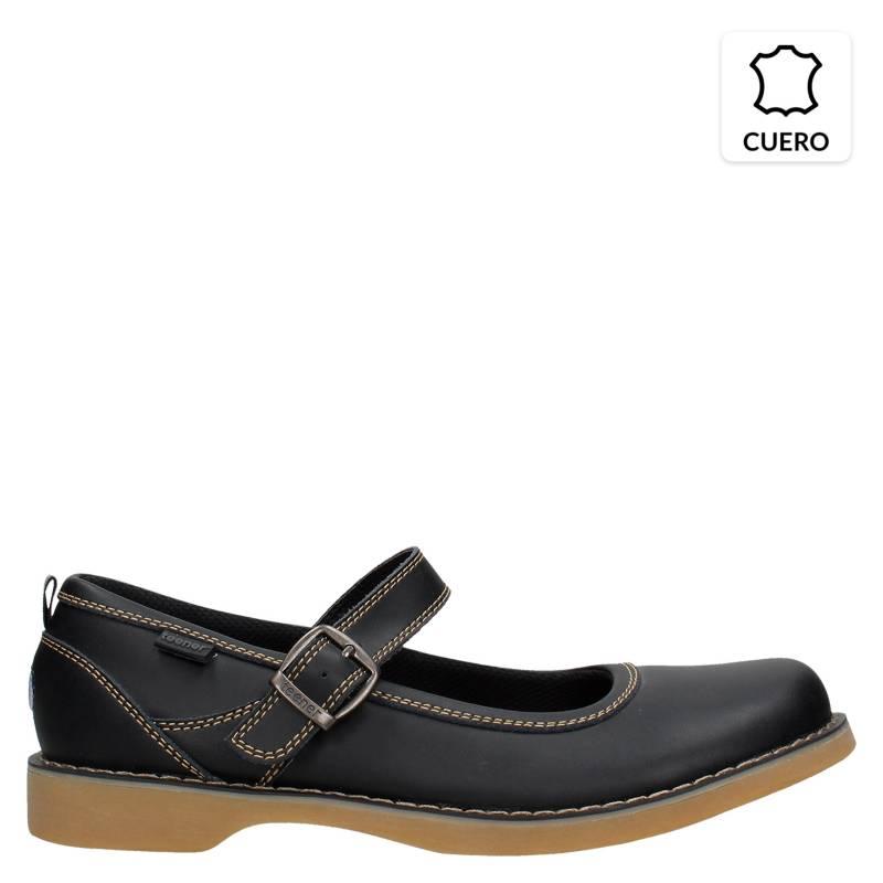 Teener - Zapato Escolar Niña Cuero Negro