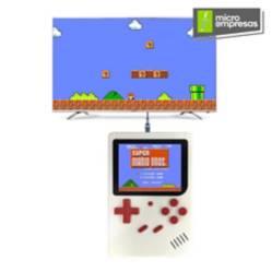 Mini Consola Portátil Retro 188 Juegos Blanca