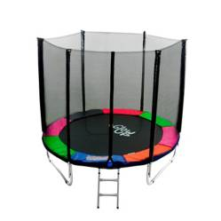 Cama Elástica 6Ft1.83Mt Glowup Malla + Escalera