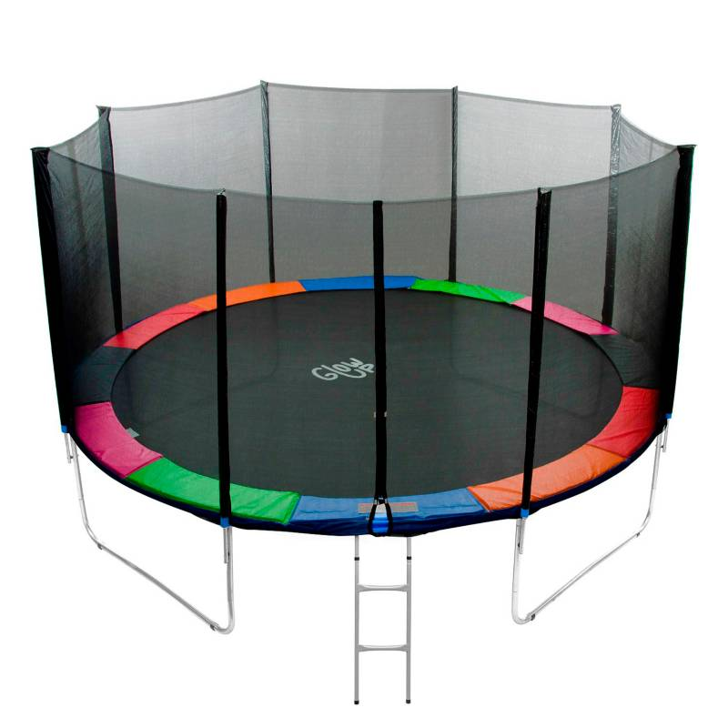 GLOWUP - Cama Elástica 12Ft 3.66Mt Glowup Malla + Escalera