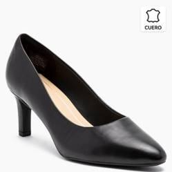 Clarks - Zapato Formal de Cuero Mujer Negro