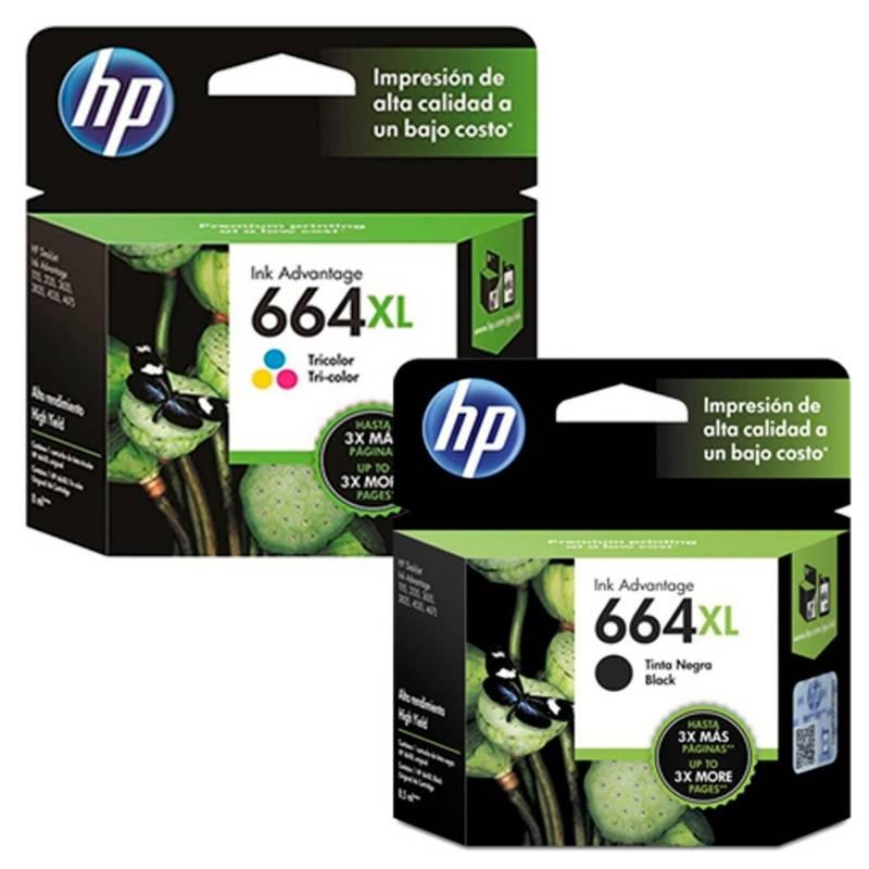 Hp - Pack De Tintas Hp 664 Xl
