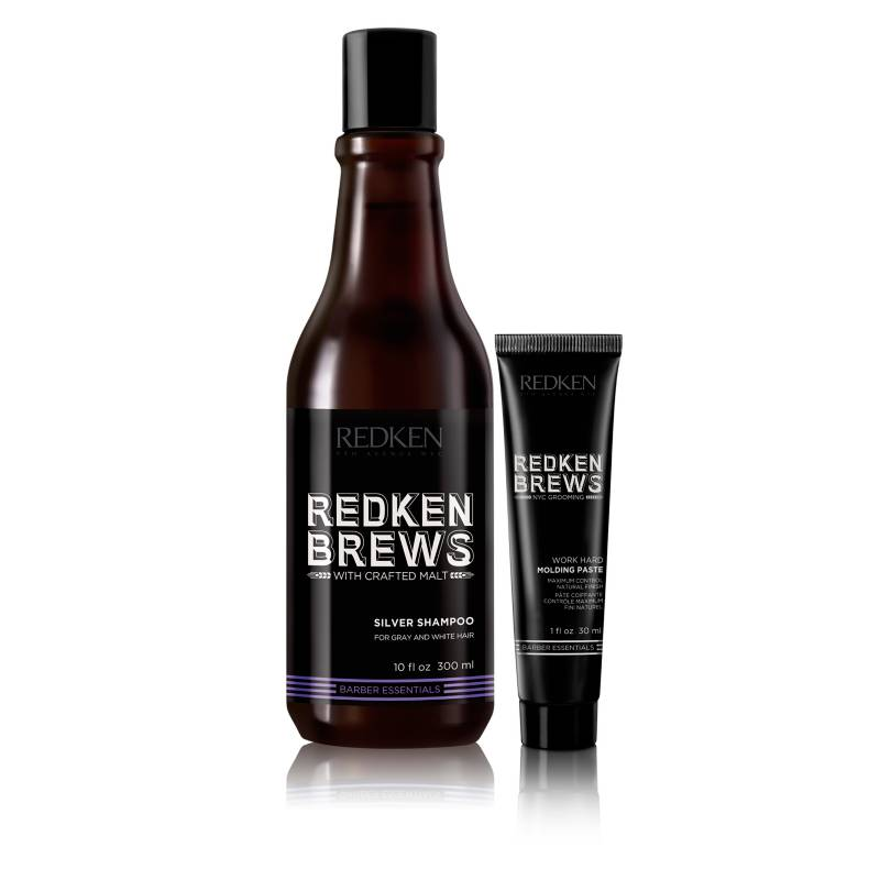 REDKEN - Set Shampoo Silver Brews 300 ML + Work Hard Brews 30 ML