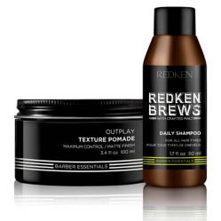 Set Cera Outplay Brews 100 ML + Shampoo Go Clean 50 ML Brews