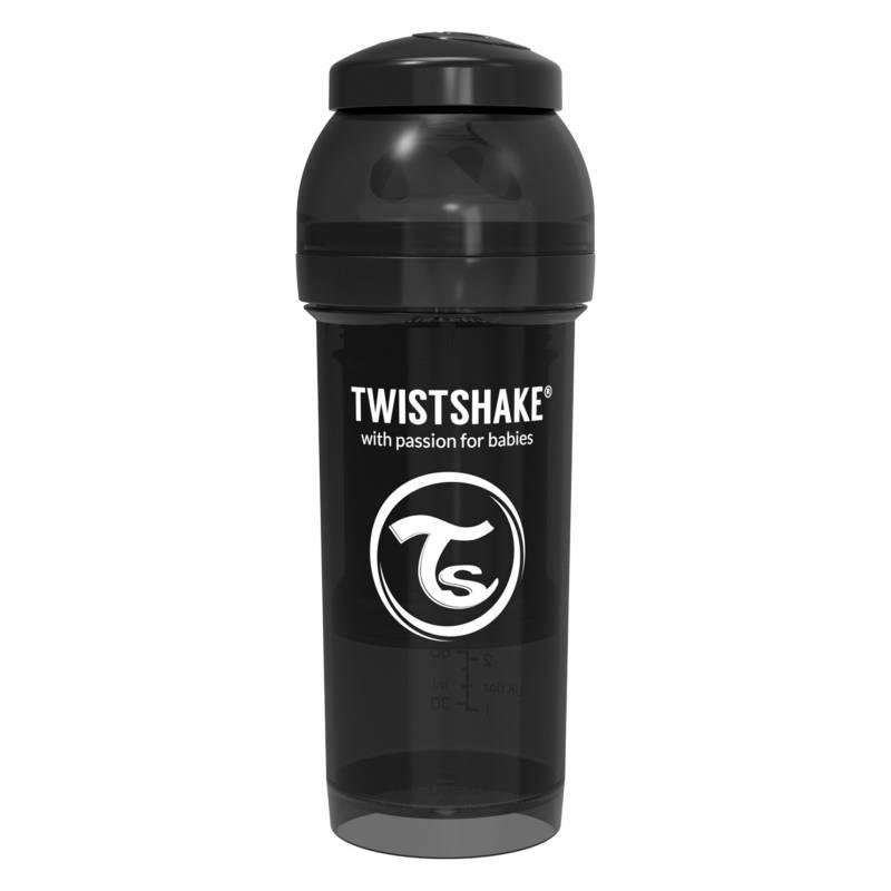 Twistshake - Mamadera Anti-Colico 260 ML Negro