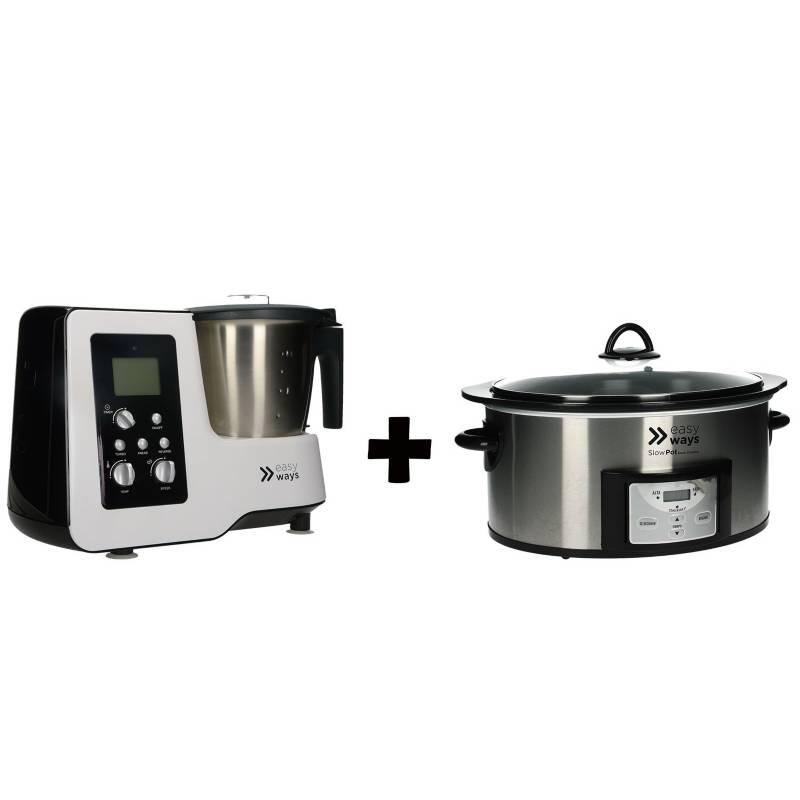 EASYWAYS - Robot De Cocina Kitchen Pro + Olla De Cocción Lenta Slow Pot Dura&Nbsp; Ceramic
