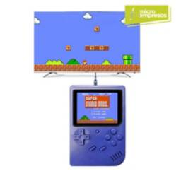 Mini Consola Portátil Retro 188 Juegos Azul
