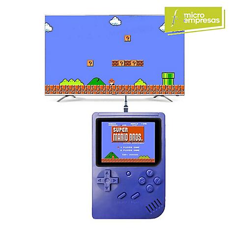 My Mix Mini Consola Portátil Retro 188 Juegos Azul