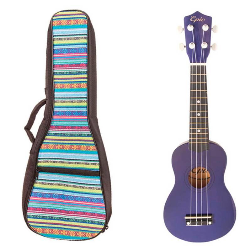 Epic - Ukelele Colores Morado + Bolso