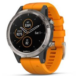 Smartwatch Fenix 5 Plus Sapphire Ti Orange