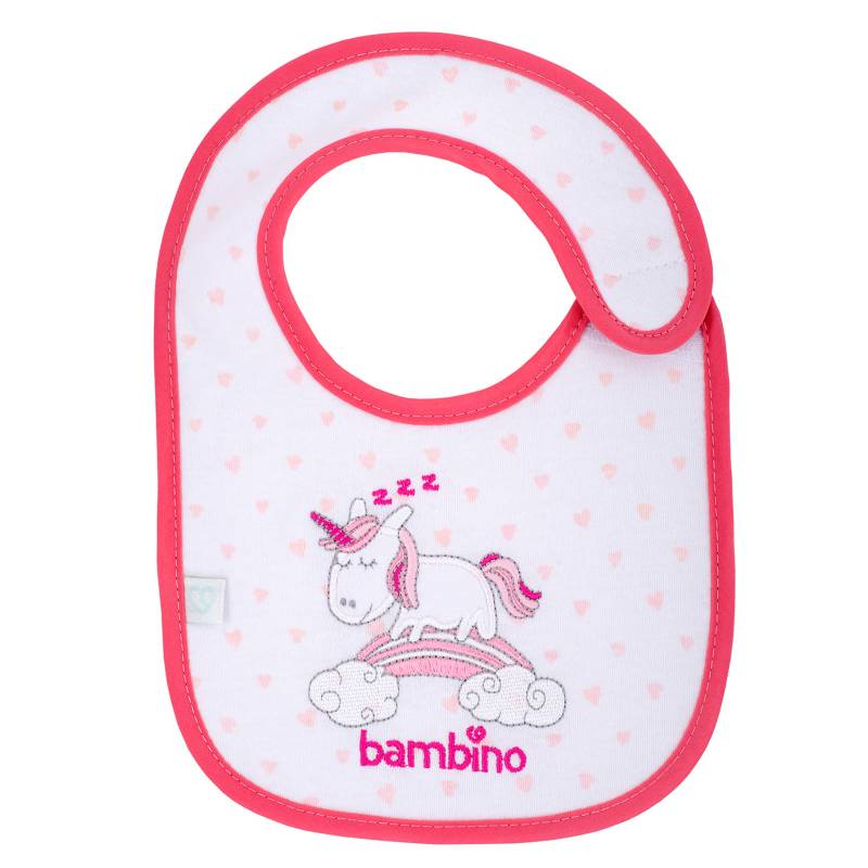 Bambino - Babero Toalla Modern Rosa Unicornio