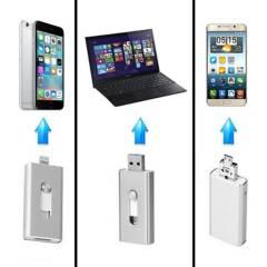 FLASHDRIVE - Pendrive 32 Gb Para Iphone ¿Android Color Plateado