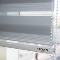 Vincenzi - Cortinas Roller Duo Zebra Gris Vincenzi