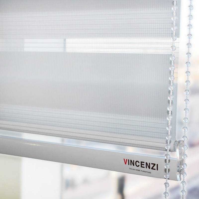 VINCENZI - Cortina Roller Duo Zebra 1.8X2.4M Blanca&Nbsp;