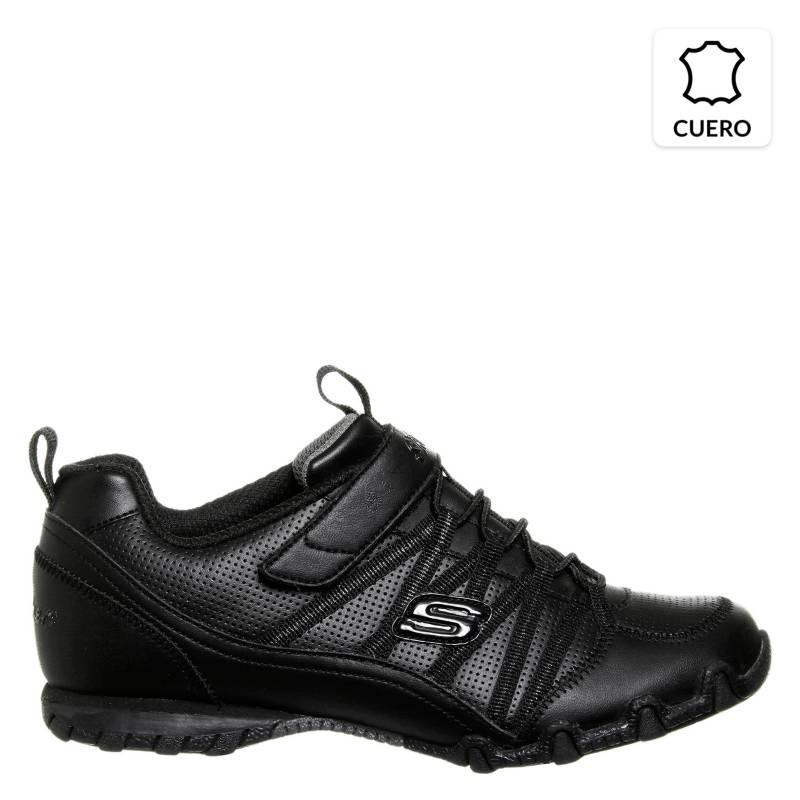 exagerar Alboroto lunes  Skechers Zapatilla Escolar Niña Cuero Negra - Falabella.com