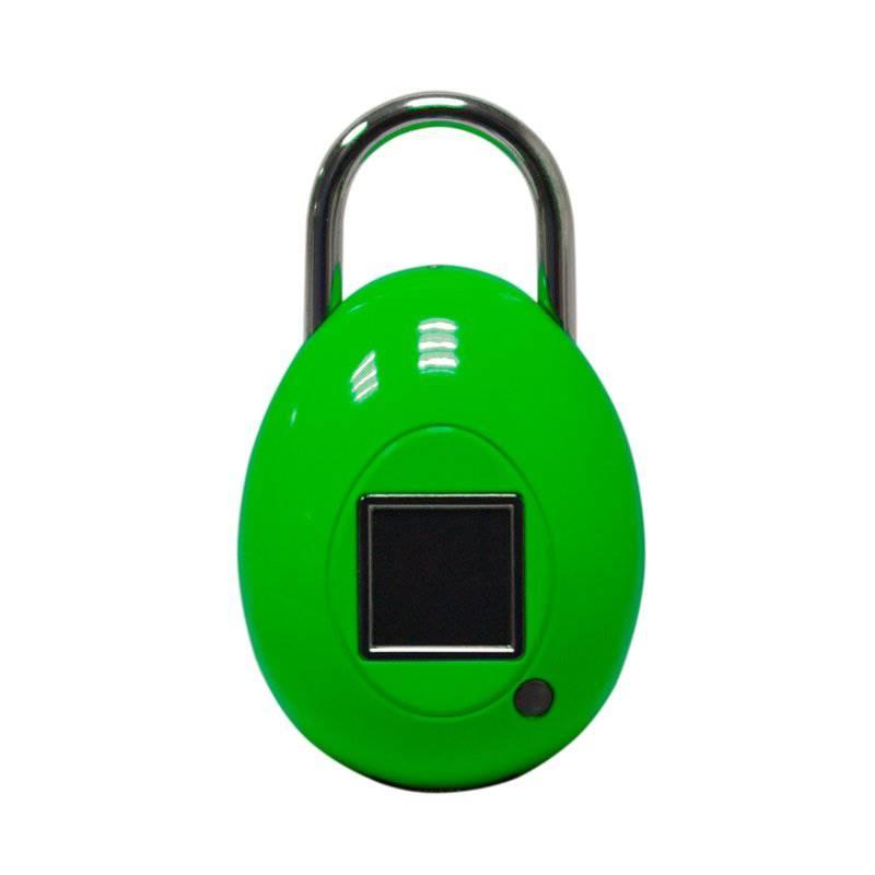 BIO-KEY - Candado Touchlock Go - Color Verde
