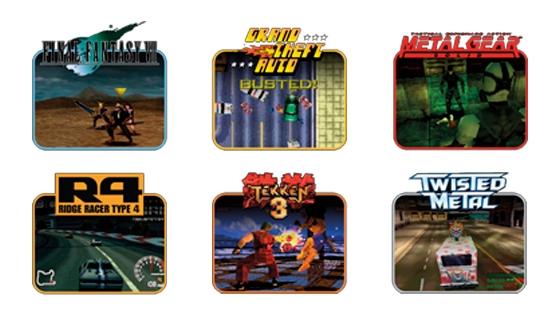 Extracto de los juegos que trae la consola