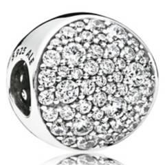 PANDORA - Charm plata esfera de pave