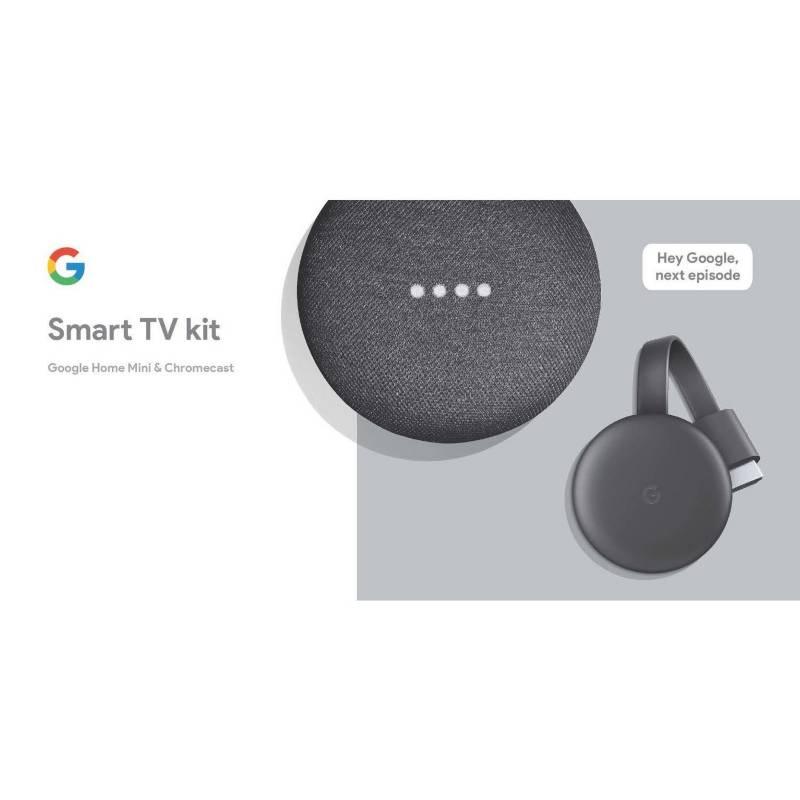 Google - Google Chromecast 3 + Google Home Mini