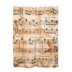 Cortina de Baño Notas Musicales