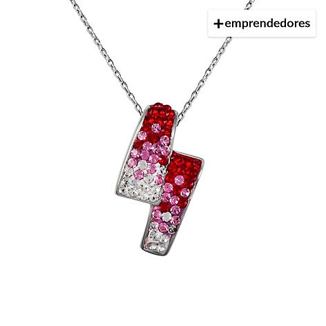 058f0b78d304 Krystalia Collar Creado con Cristales Swarovski® Siam Rose - Falabella.com