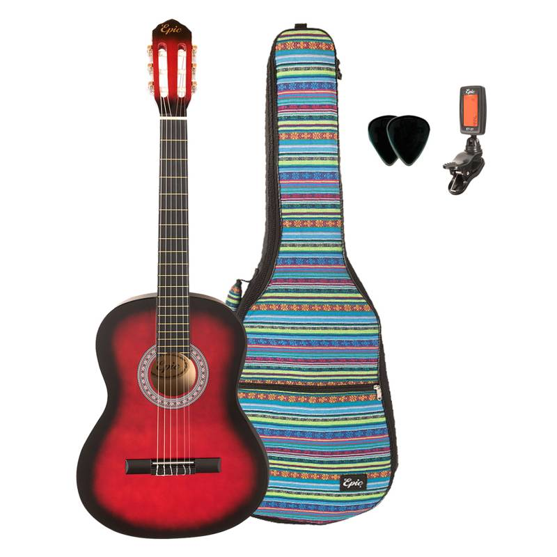 Epic - Pack Guitarra Clásica Red + Bolso