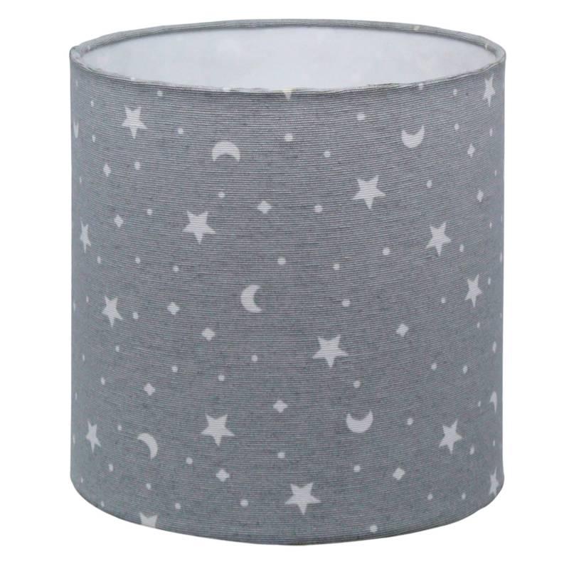 LIGHTME - Pantalla Gris Estrella Luna 17 x 17 cm