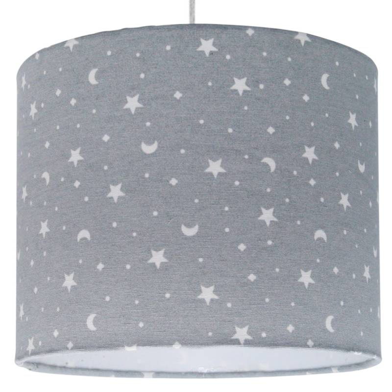LIGHTME - Lámpara De Colgar Gris Estrella Luna 25 X 20 Cm