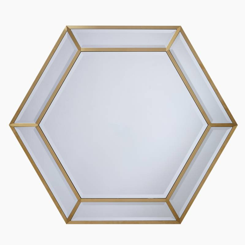 JOHN LEWIS - Espejo Hexgonal Brass