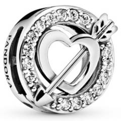 PANDORA - Charm corazones asimetricos
