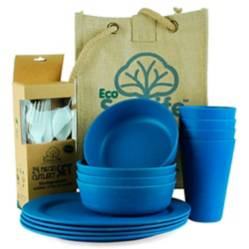 Ecosoulife - Set para Picnic 4 personas Azul