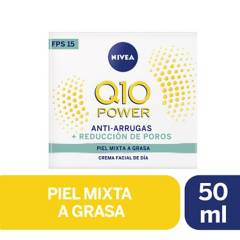 Nivea - Crema facial antiarrugas Q10 power dia FPS20 piel normal a mixta 50ml