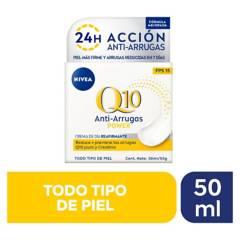 Nivea - Crema facial antiarrugas Q10 power dia FPS20 piel normal a seca 50ml