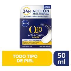 Nivea - Crema facial antiarrugas noche Q10 power 50ml