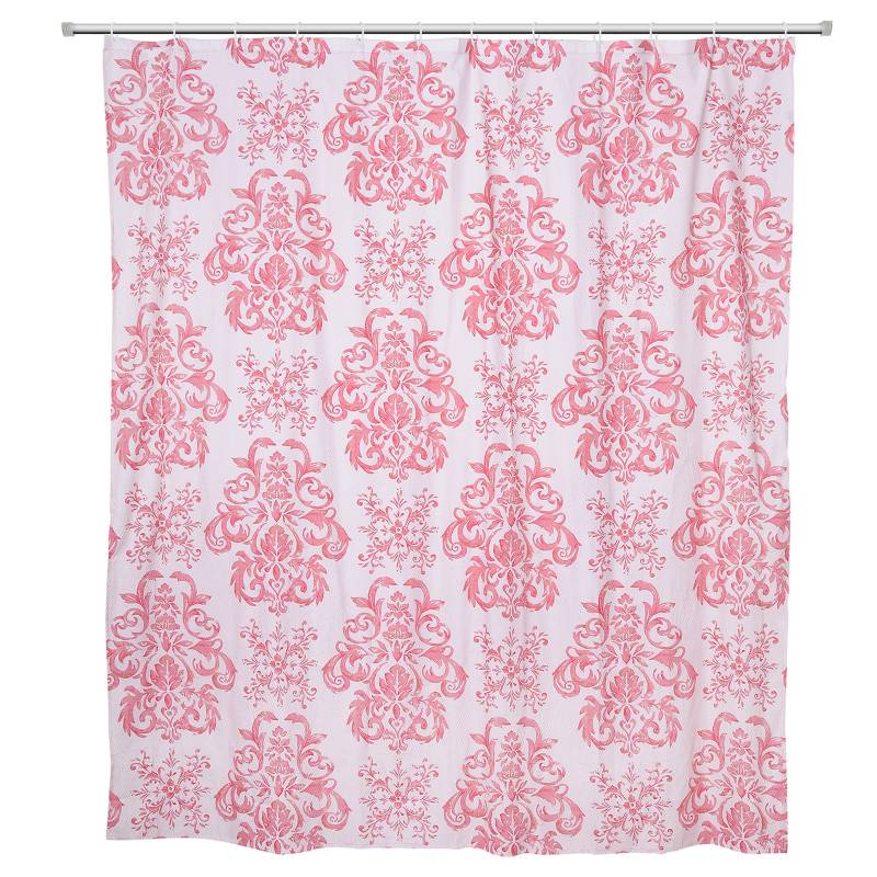 MASHINI - Set Cortinas 3 pzas Damasco Rosa